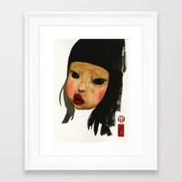 asian Framed Art Prints featuring Asian Doll by Young Ju