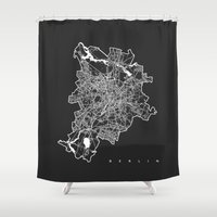 berlin Shower Curtains featuring BERLIN by Nicksman