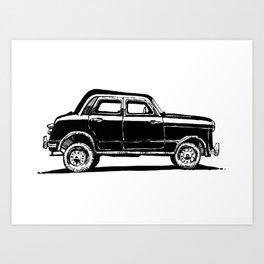 Retro car Art Print