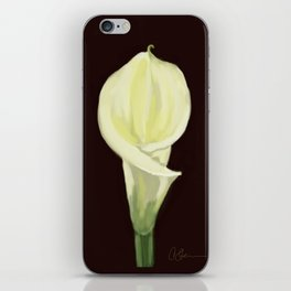 Portrait of a Calla Lily DP160213-14 iPhone Skin