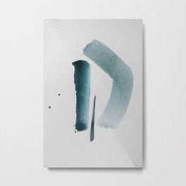 aquarelle meets pencil - mint.jpg Metal Print