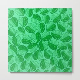 Monstera Leaf 2d Graphic Pattern Metal Print