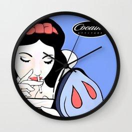 Snow White: Cocaine Attitude Wall Clock