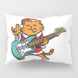 Guitar Player Cat Metal Fan Funny Christmas Gift Pillow Sham