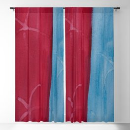 Red and Blue Stripe Blackout Curtain