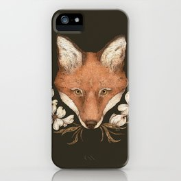 The Fox and Dogwoods iPhone Case