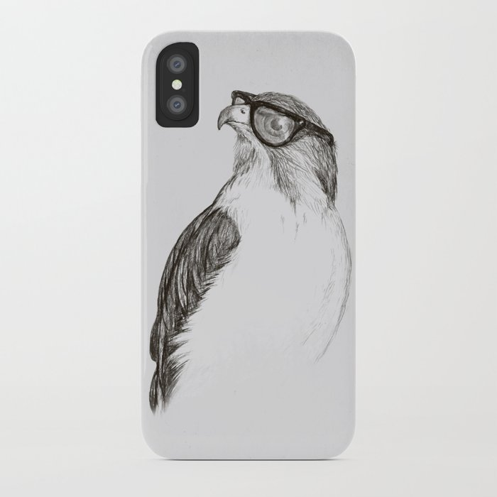 Hawk with Poor Eyesight iPhone Case