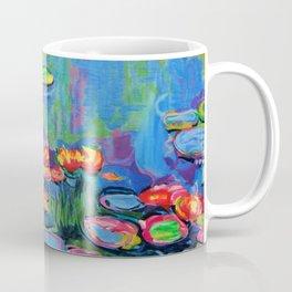 Waterlilies in Neon Coffee Mug