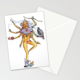 Modern Goddess Tools - Sexy Eight Armed Blonde Stationery Cards