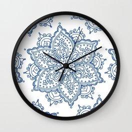 DELAVE' Navy blue Wall Clock