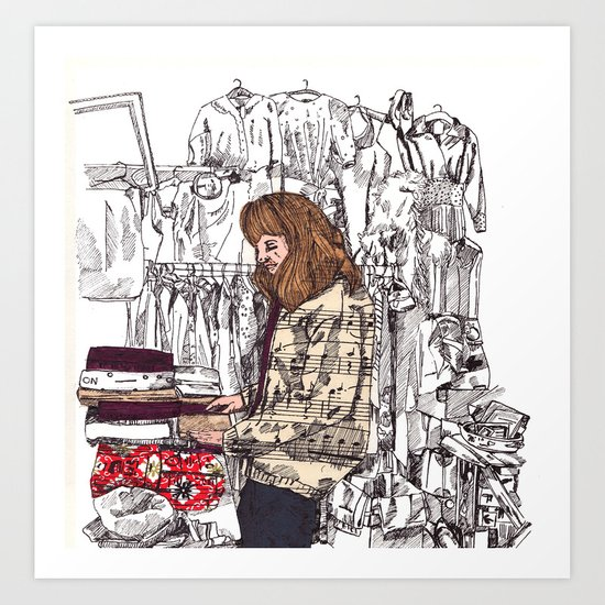 Shop Girl Art Print