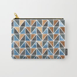 Gold Steel Ice geometric pattern Carry-All Pouch