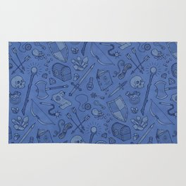 Inventory in Blue Rug