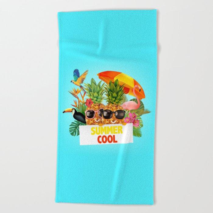 Summer Cool Beach Towel By Birthday By Frankenberg Society6