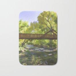 Footbridge Over Bear Creek Bath Mat