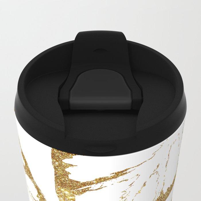 Monstera Gold #society6 #decor #buyart Metal Travel Mug