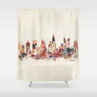 ohio Shower Curtains featuring columbus ohio by bri.buckley