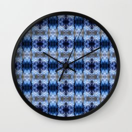 snowflake in blue 8 pattern Wall Clock