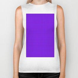 Purple Grid Black Line Biker Tank