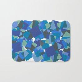 Blue Mosaic Bath Mat