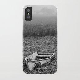 Abandoned Marsh Boat iPhone Case