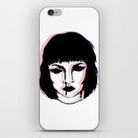 mia wallace iPhone & iPod Skins featuring Mia Wallace Glitch by Megan