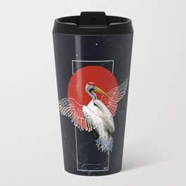 Cranes Japanese Kimono Travel Mug