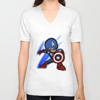 captain silva V-neck T-shirts featuring Captain by red monster studios