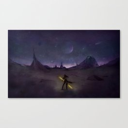 Under the Light from Distant Worlds Canvas Print