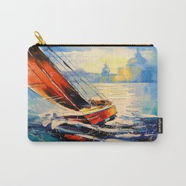 Yacht in the wind Carry-All Pouch