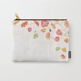 poppy flowers and leaves background Carry-All Pouch