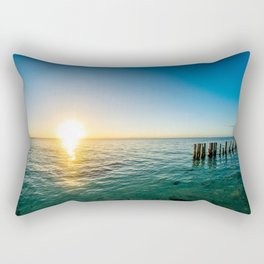 Belize Sunset Rectangular Pillow