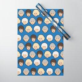 The Golden Girls Blue Pop Art Wrapping Paper