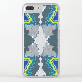 Glacial Kaleidoscope Clear iPhone Case