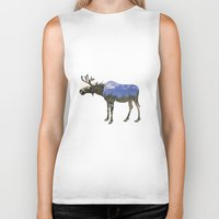 moose Biker Tanks featuring MOOSE by James Wetherington
