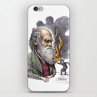 darwin iPhone & iPod Skins featuring Darwin by ElenaTerrin