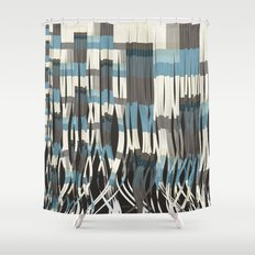 Abstract Graphic Ribbons Shower Curtain
