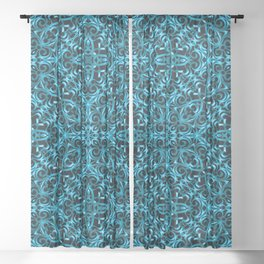 Floral Wrought Iron G44 Sheer Curtain