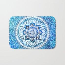 Watercolour Yin Yang Mandala Bath Mat