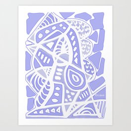 Violet Abstract Art Print