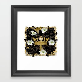 My Empire Collection Summer Set White Flowers Crown Framed Art Print