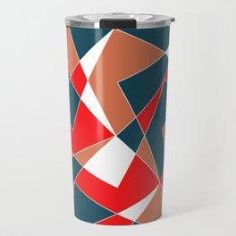 Broken Pattern (Red) Travel Mug