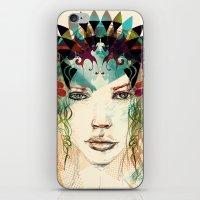 princess iPhone & iPod Skins featuring princess by Irmak Akcadogan