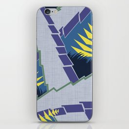 AGONDA Art Deco Modern: MORNING BLUEBIRD iPhone Skin