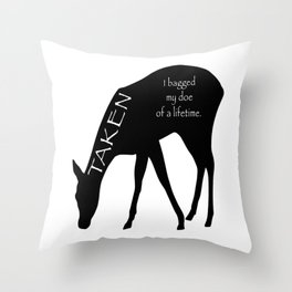 Taken by the doe of a lifetime. Throw Pillow