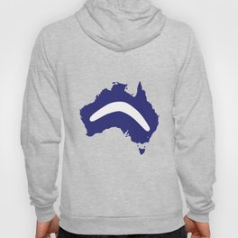 Australia Silhouette With Boomerang Hoody