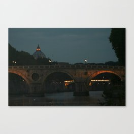 Bridges of Rome in the Evening Canvas Print