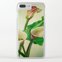 Three Calla Lilies Clear iPhone Case