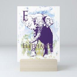 E Elephant Mini Art Print