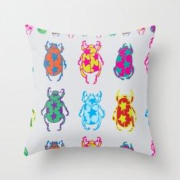 Star Beetles Throw Pillow